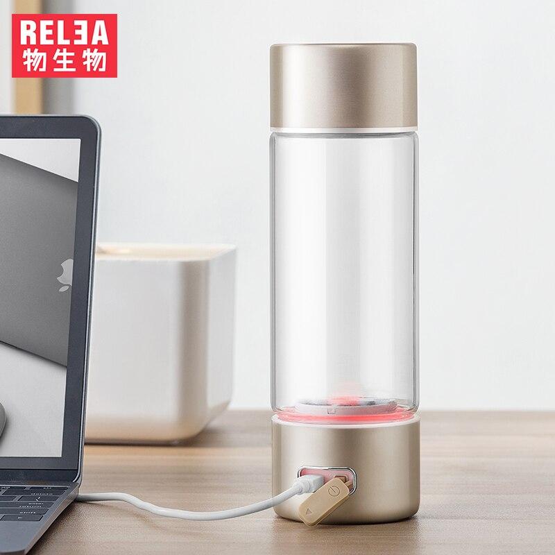 360 ml Haute Qualité Portable Riche En Hydrogène Bouteille D'eau Alcaline Filtre Négatif Lon Flacon Sain Anti Vieillissement Flacon USB Charge