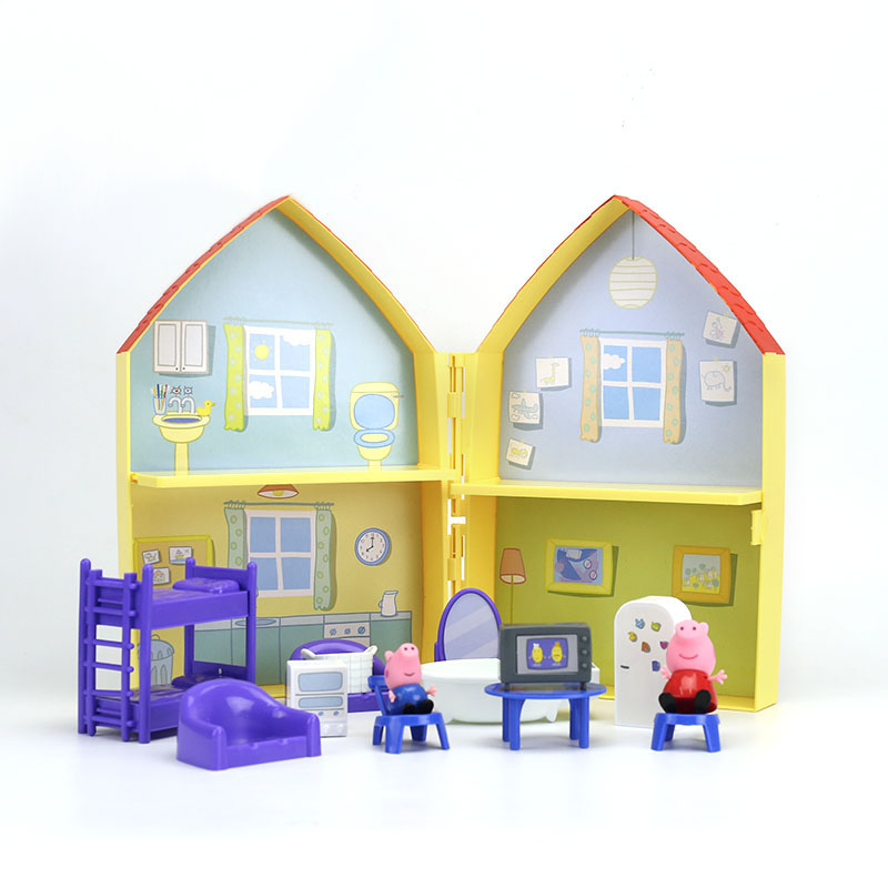 Image 2 - 2019 New Genuine PEPPA PIG   peppa pig's house playset with Peppa George figure KIDS TOY children's Birthday gift Hot sale-in Action & Toy Figures from Toys & Hobbies