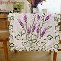 Japanischen Stil 40x90 40x180cm Luxus Lila Lavendel Floral Weiß Satin Cutwork Gestickte Tisch Läufer TV stehen Schrank Abdeckung-in Tischläufer aus Heim und Garten bei