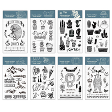 Northern Europe cactus transparent silicone clear stamp for scrapbooking album DIY craft decoration rubber stationery