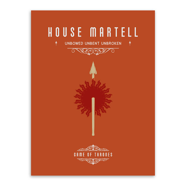 Game Of Thrones A3 Movie TV Poster Vintage Wall Art Canvas Prints Living Room Deer Pictures Painting Modern Home Decor No Frames 1