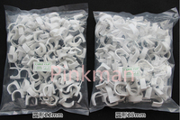 100pcs 25mm White Round Nail Cable Wire Clip