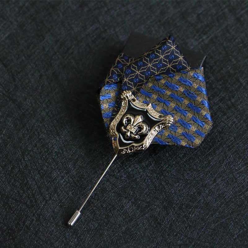 Fashion Suit Brooch Men Fabric Pin Bridegroom Groomsman