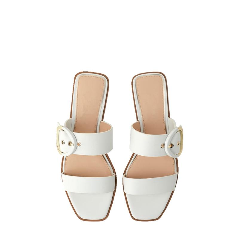 Sandales femmes été appartements sandales blanches femmes chaussures de plage