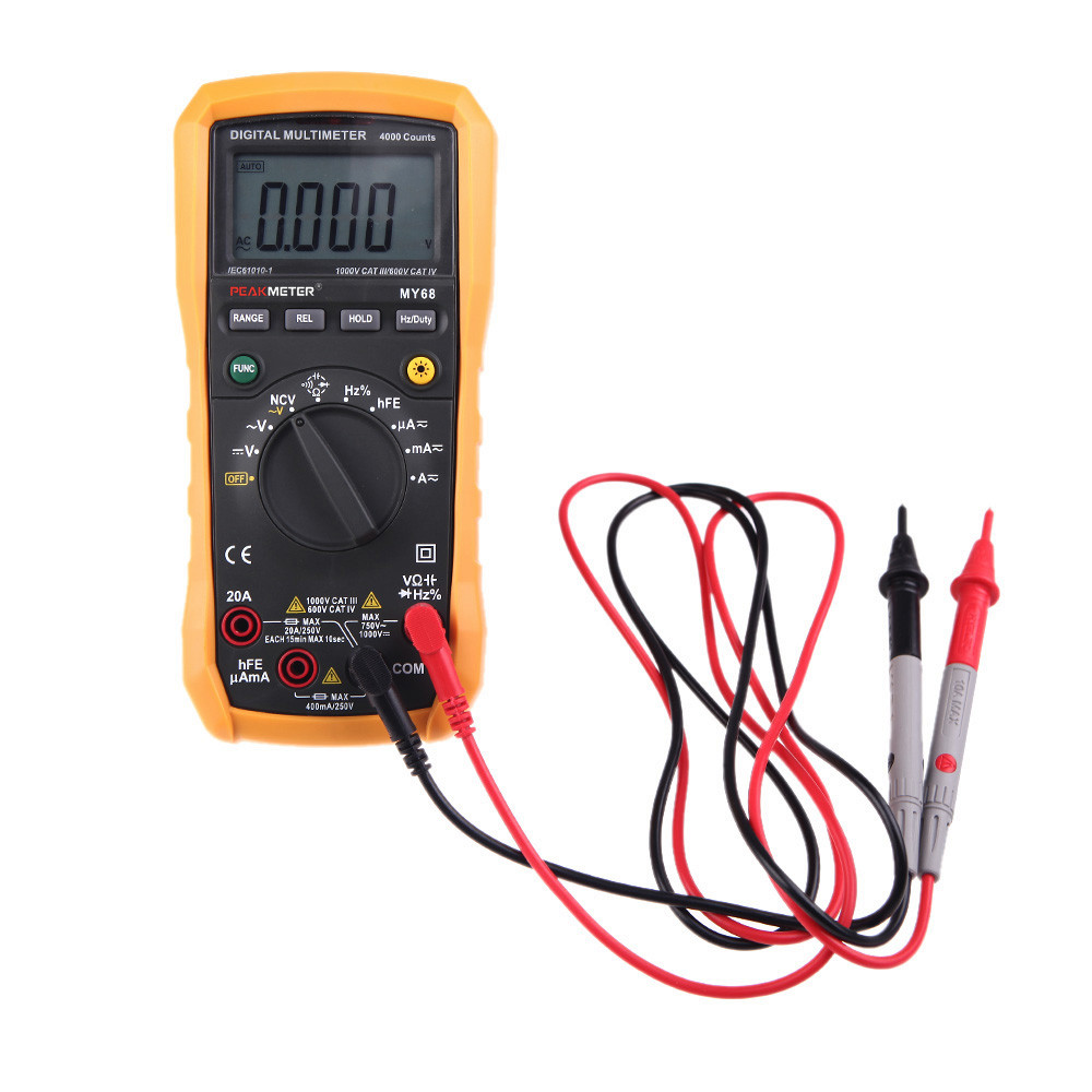 ФОТО  High presion Digital Multimeter 4000 Counts AC/DC Resistance Capacitance Frequency Duty cycle Tester PEAKMETER MY68