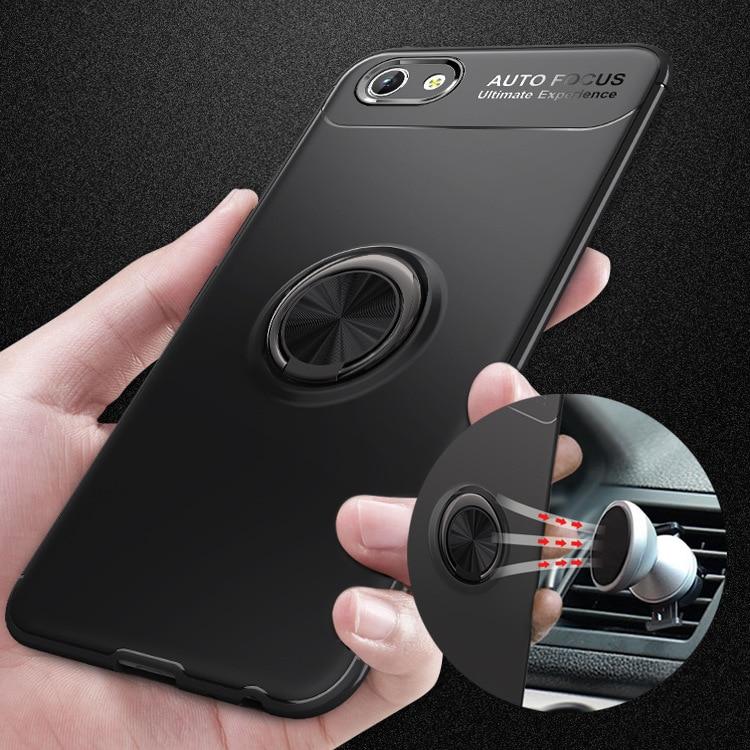 Y83 Magnetic Car Holder Soft Case For Vivo Y83 (No Fingerprint) Cases 360 Rotating Finger Ring Full Phone Cover For Vivo Y83
