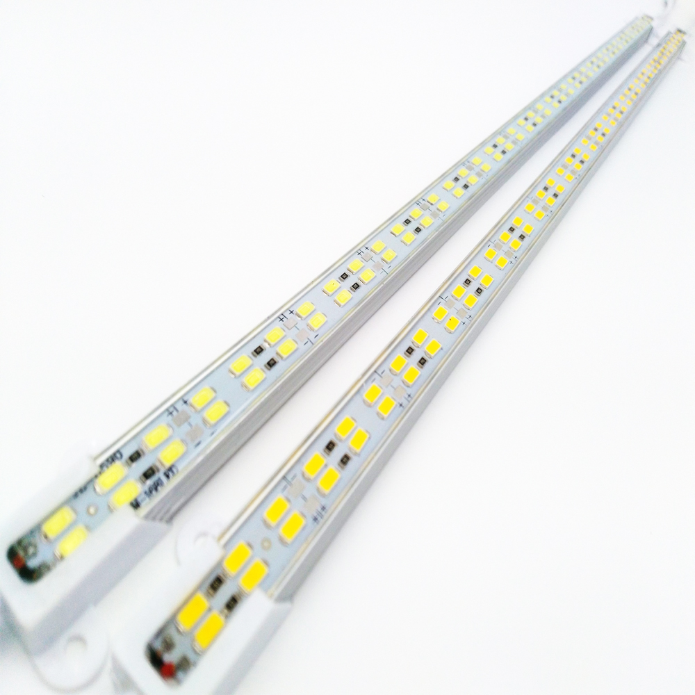 1 meter 168Leds Double Row Led luces Strip SMD5730 bar light Waterproof Cool White Warm white