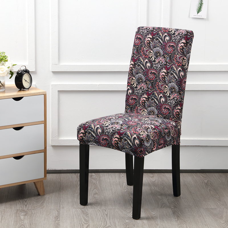 Modern Printed Pattern Chair Covers Spandex Dining Room