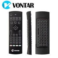 VONTAR MX3 Pro Arka Kablosuz Klavye 2.4G Kablosuz Uzaktan Kumanda X92 X96 Android TV IR Öğrenme Için Fly Air Fare kutu