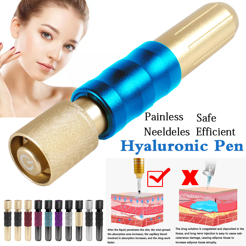 New Style High Pressure Hyaluronic Pen NonInvasive Atomizer Injection Guns For Lip Filling Anti Wrinkle Face Atomizer Injection
