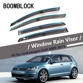 Alta calidad 4 Uds humo ventana visor de lluvia para VW Golf 6 2013, 2012, 2011, 2010, 2009 estilo de ventilación deflectores solares guardia Accesorios