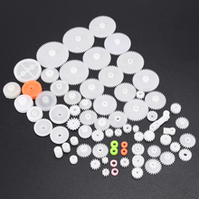 64pcs High Quality Plastic Shaft Single Double Layer Crown Worm Gears M0.5 For Robot DIY