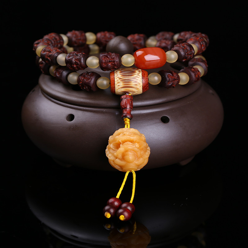 Wholesale Natural Wood Bracelets Carved four-faced Buddha and Bodhi Pixiu Hand String Lucky For Men Women Blessing Jewelry Wholesale Natural Wood Bracelets Carved four-faced Buddha and Bodhi Pixiu Hand String Lucky For Men Women Blessing Jewelry