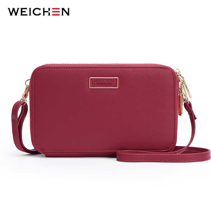 2758b073b8 WEICHEN Box Mini Shoulder Bag Women Mulit-Function Large Capacity Female  Clutch Lady Handbag Purses