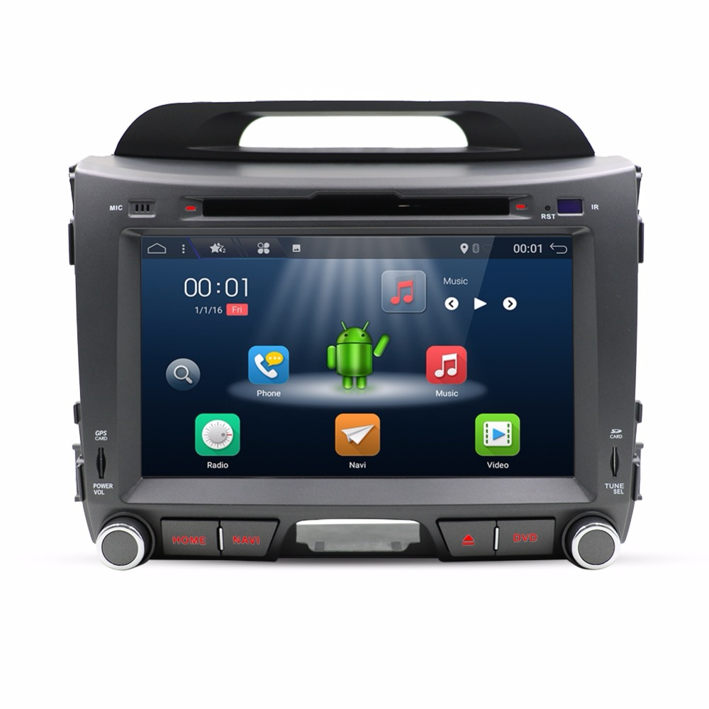 Android 7 1 Quad core font b car b font dvd for KIA sportage 2011 2012
