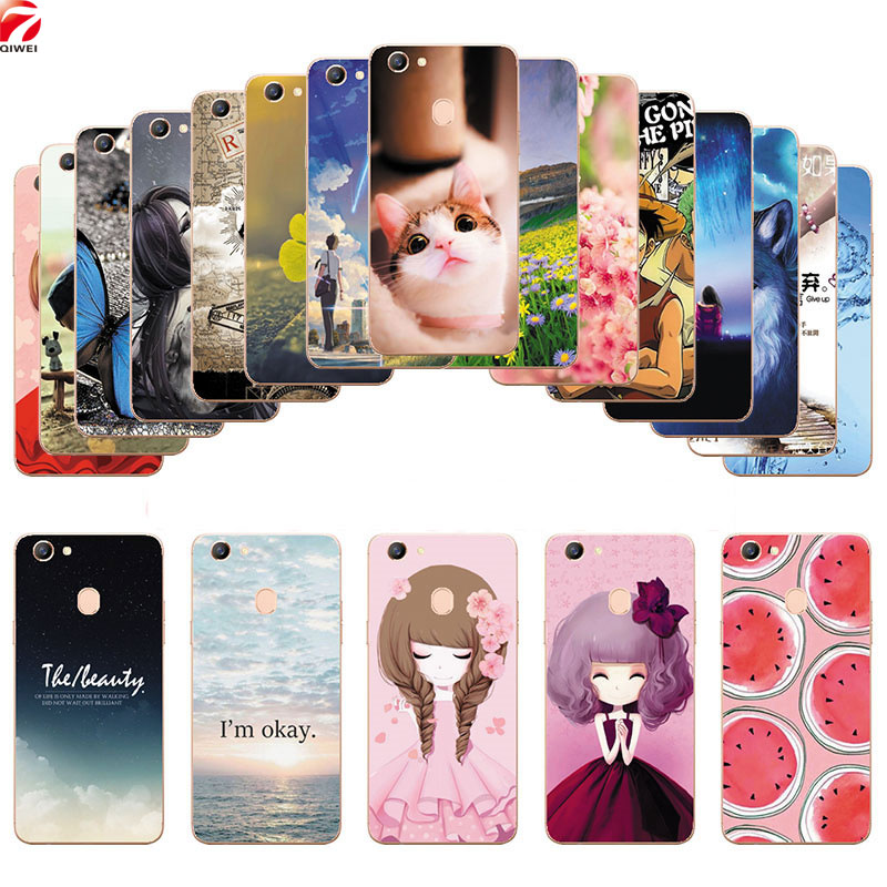 For OPPO F5 Case Fashion Painted Soft TPU Back Cover For OPPO F5 Youth F 5 Silicon Phone Cases Fundas Coque For OPPO A73 A 73