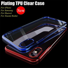 phone case for iPhone XS MAX X 7 8 6 6s 5 se Cover On For iphone XR Plus Phone Silicone Case plating TPU clear