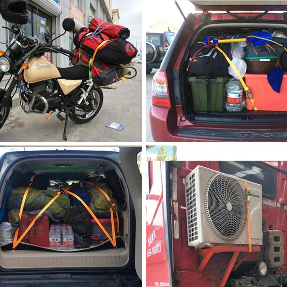 2M Gesper Pengikat Sabuk Kargo Tali untuk Mobil Sepeda Motor dengan Logam Buckle Tali Derek Kuat Ratchet belt untuk Tas Bagasi
