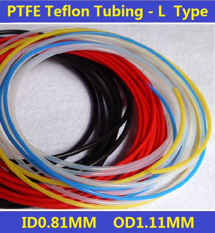21L 0.81X1.11mm PTFE Teflon Tubing Pipe  ID 0.81mm OD 1.11mm 150V Brand New Wire Protection  Free Shipping - 5 Meters