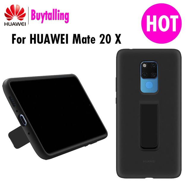 Funda trasera Original oficial Huawei mate 20 X soporte de silicona líquida suave de microfibra integrada para Mate 20X5G