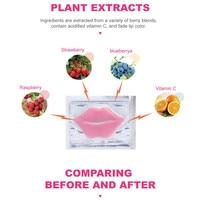 10Pcs Beauty Super Lip Plumper Pink Crystal Collagen Lip Mask Patches Moisture Essence Wrinkle Ance korean Cosmetics Skin Care 6