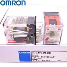 OMRON Реле MY2N-GS MY4N-GS 110 V/120VAC 24VAC 110VAC абсолютно и реле
