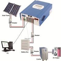 AB ABD 60A için Freeshipping 12 v 24 v 48 v Güneş kontrol MPPT solar şarj kontrolörü