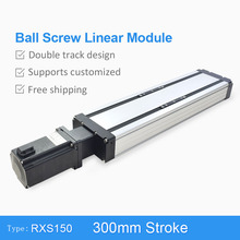 Quality Reliable Free Shipping Lead Screw Driven Linear Motion Guide Slide System For Plasma Detector 300mm