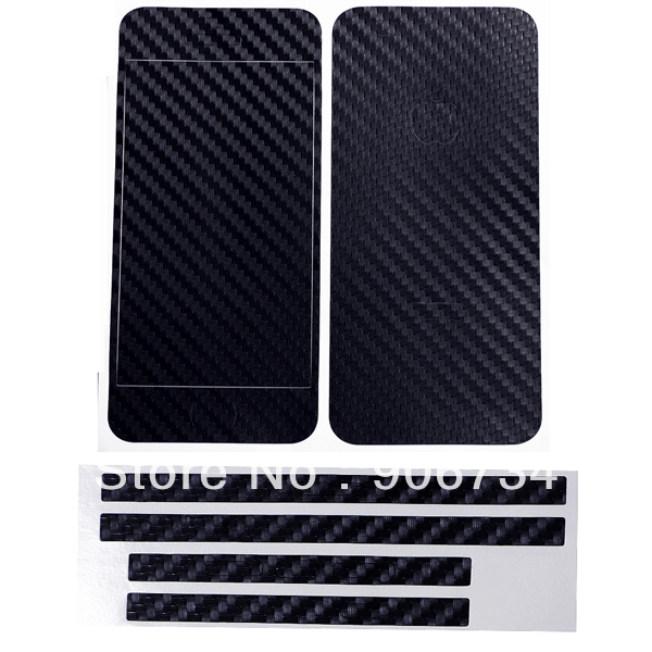 Cool design color black carbon fiber full body slim protector sticker skin cover for apple iphone