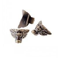 Freies verschiffen 12 Stücke Bronze Ton Schmuck Geschenk box Holz Fall Dekorative acryl Füße Bein Eckenschutz 29x35mm-in Möbelzubehör aus Möbel bei