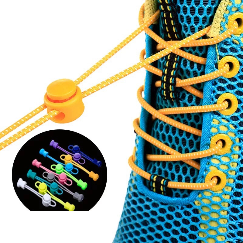 1 Pair Lazy Laces Sneaker ShoeLaces Elastic Shoe Laces  Shoe Accessories Lacets Shoestrings Running/Jogging/Triathlone