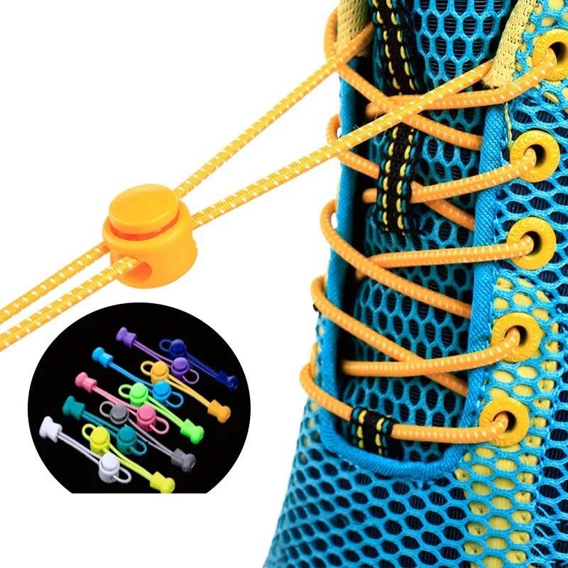 1 Pair Lazy Laces Sneaker ShoeLaces Elastic Shoe Laces  Shoe Accessories Lacets Shoestrings Running/Jogging/Triathlone