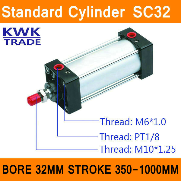 SC series Standard Air Cylinders Valve SC32 Bore 32mm Strock 350mm to 1000mm Stroke Single Rod Double Acting Pneumatic Cylinder шина viatti strada asimmetriсo v 130 215 60 r16 95v