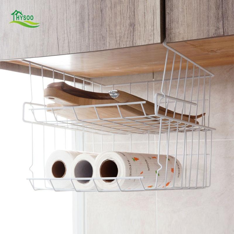 Wrought iron cabinets racks table hanging basket storage rack kitchen compartment pylons storage shelves finishing frame