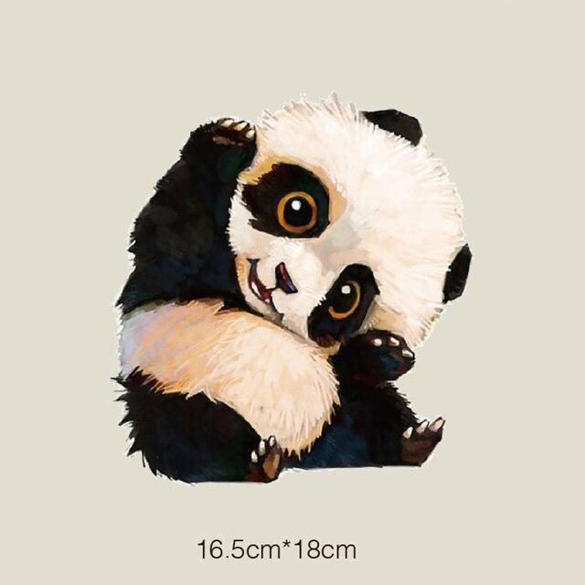 1 предмет с рисунком панды патч моющиеся утюг на переводы патчи