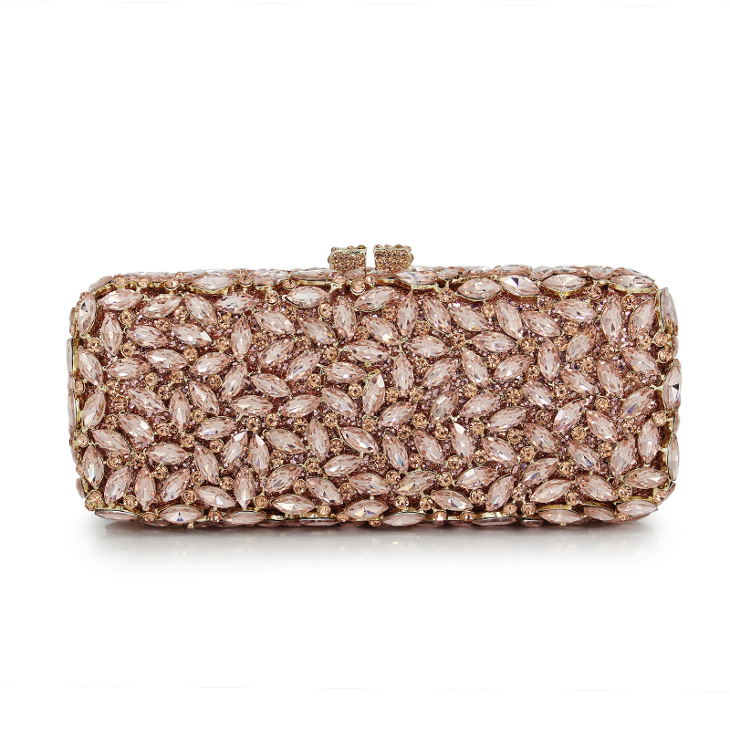New Women Hollow Out Crystal Clutch Handbag for Wedding Party Lady Diamonds Evening Bag for lady women gift(88229-CG) luxury female floral clutch bag women handbag diamonds crystal handbags hollow out party evening handbag ladies day cluthes