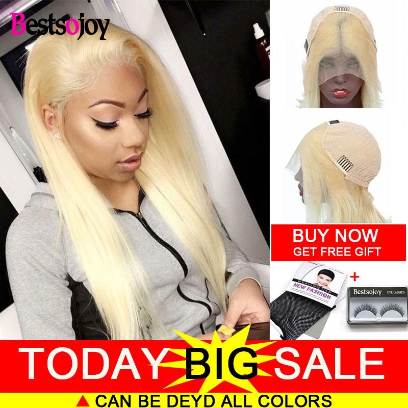 Bestsojoy 613 Lace Front Wig Brazilian Lace Frontal Human Hair Wigs Blonde Lace Frontal Wig Human