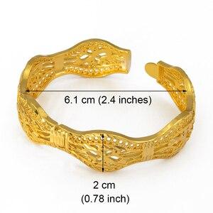 Image 3 - Anniyo 4 Pieces/Openable Dubai Wedding Bangles Ethiopian Bracelet & Bangle for Women African Jewelry Arab Middle East #208206