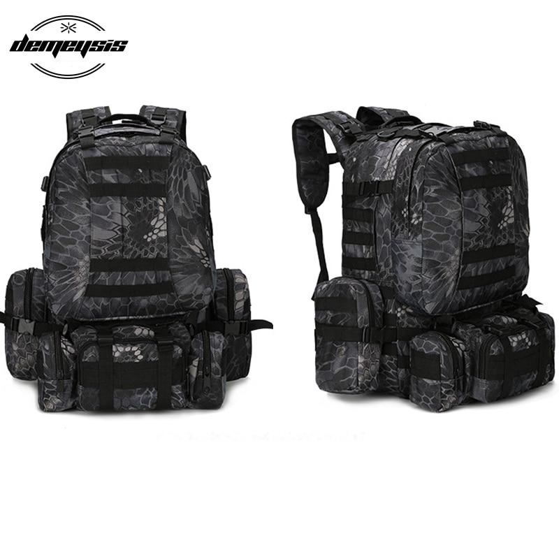 Camouflage sac extérieur armée militaire sac à dos tactique grand sac à dos sac d'alpinisme pour Camping randonnée