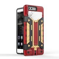 Fundas For Huawei P9 Cases Hybrid Dual Heavy Duty Hard Silicone Iron Man Shield 3D Armor
