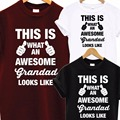 Awesome Super Grandad DAD T Shirt Fathers Day XMAS Christmas Birthday Gift Top T-Shirt Men Funny Tops Tee Euro Size S-XXXL
