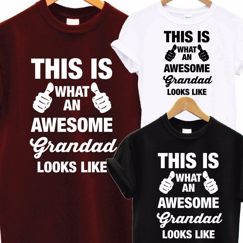 Awesome Super Grandad DAD T Shirt Fathers Day XMAS Christmas Birthday Gift Top T-Shirt Men Funny Tops Tee Euro Size S-2XL