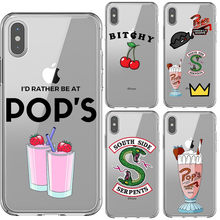 American TV Riverdale Soft Silicone TPU Phone Case for iPhone 5s SE 6s 7 8 Plus Southside Serpents Cover For iPhone X XR XS MAX(China)