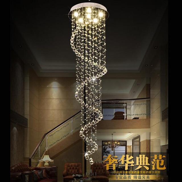 Jmmxiuz Modern Large Big Stair Long Spiral Crystal