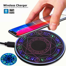 10W Qi Wireless Charger for iPhone XS 8 Plus Fast Charging Pad Samsung S9 Smartphone Desk Chargers Transmitter Base