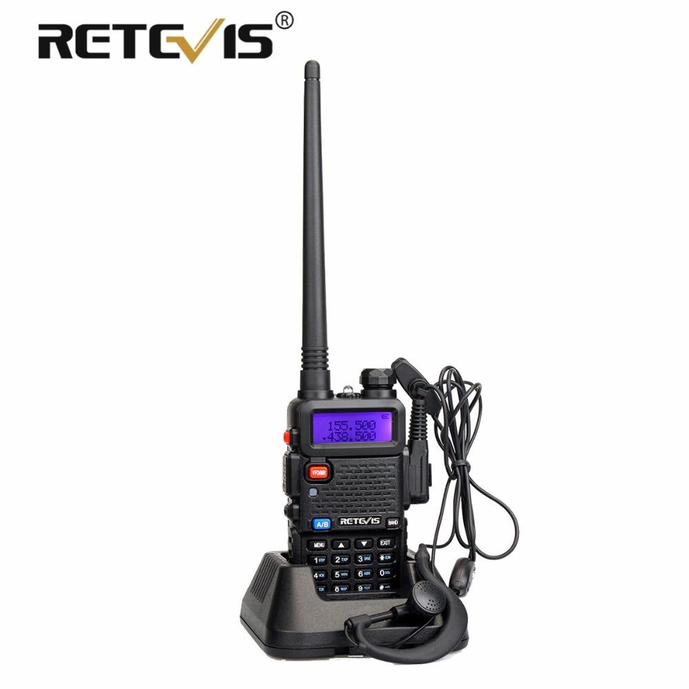 Retevis RT5R Handliche Walkie Talkie Dual Band VHF UHF VOX FM Ham Radio Amador Zwei Weg Radio Station RT-5R Walkie -Talkie für Jagd