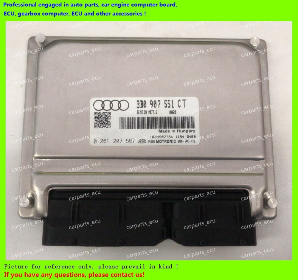 For car engine computer board/VW Audi Passat ECU/Electronic Control Unit/8D0907557T 0261204184/3B0907551CT/3B0 907 551 CT electronics
