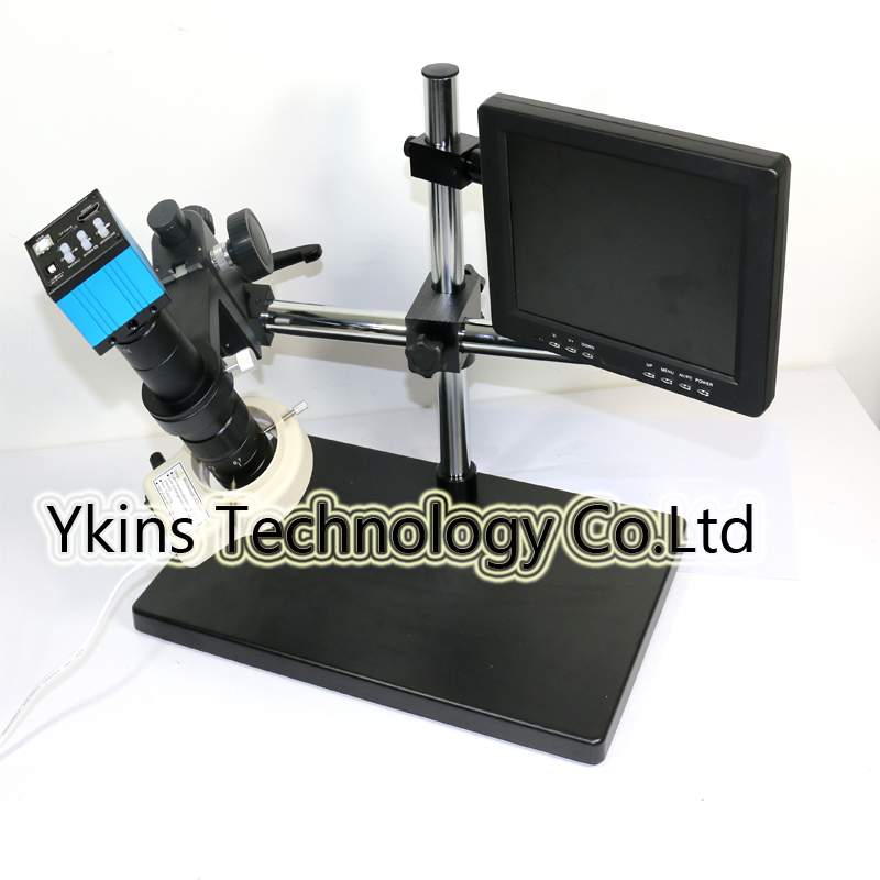 Remote control 16MP HDMI USB CMOS Microscope Video Camera +56 LED Light+8 IPS LCD Monitor for Industry Lab PCB CPU repair ...