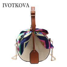 47648f3cd5bf IVOTKOVA Straw Bag Tote for Women Round New Handbags   Purse New Designer Female  Beach Bags Summer Bolsa Feminina Drop Shipping