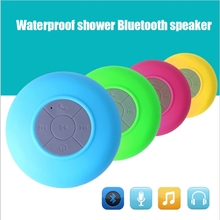 promotion Water Resistant mini portable Shower Bluetooth Speaker with Sucker Support Hands-free Calls Function for Mobile Phone
